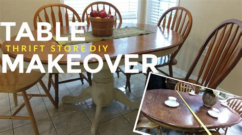 refinish  kitchen dining table vintage shabby chic farmhouse style youtube