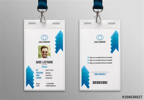 blue chevron id card layout  buy  stock template