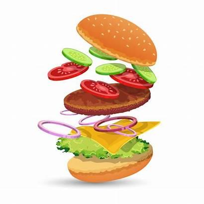 Hamburger Ingredients Vector Freepik