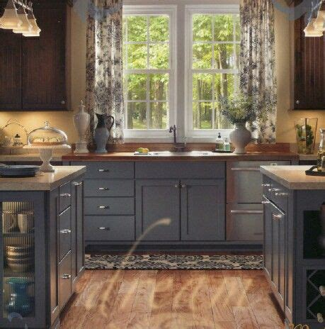 mixing painted  wood cabinets grey kitchen cupboards
