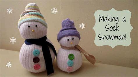 making  sock snowman cute winter craft maymommy