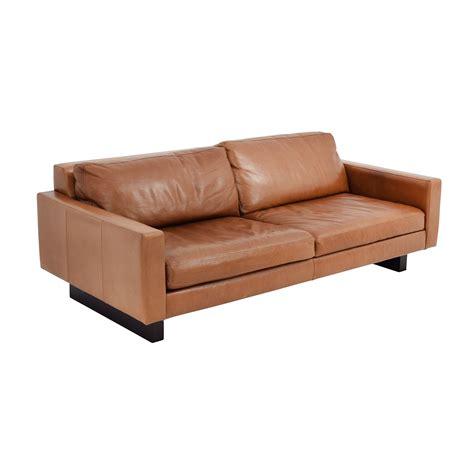 room board sofa 66 off room board room board 79 quot hess leather sofa