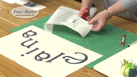 sew easy lesson    fusible applique lettering youtube