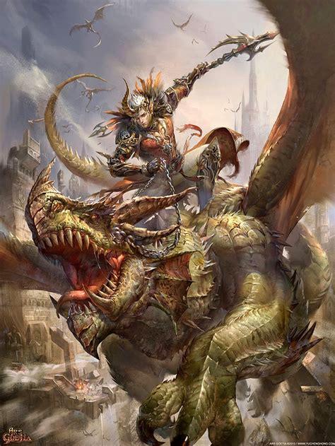 akiwa art epic fantasy illustration  yu cheng hong