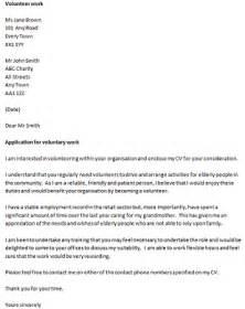 cover letter volunteer job sample