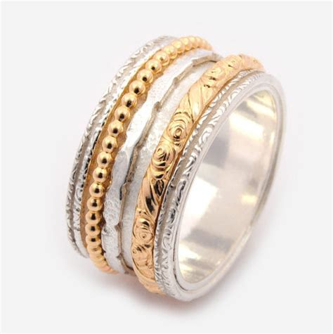 spinner rings for women meditation band worry ring