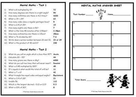mental maths test