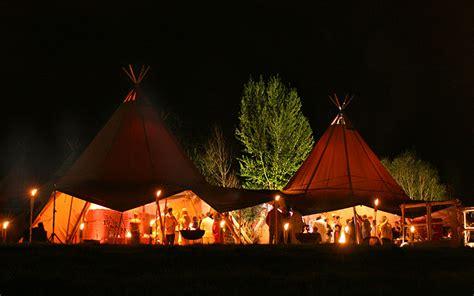 winter tipi wedding nighttime gathering