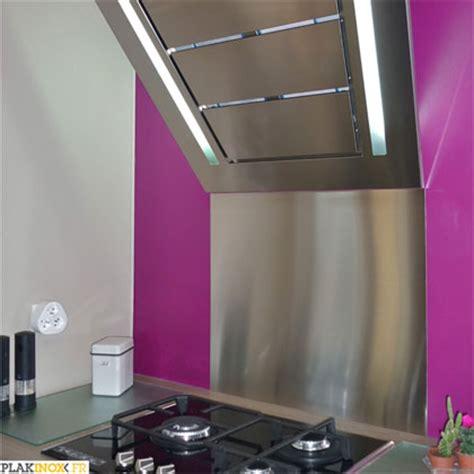 habillage hotte cuisine plakinox photos crédences inox réalisation de
