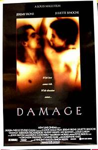 Damage (1992) - (Jeremy Irons) US one-sheet DS R, NM $30