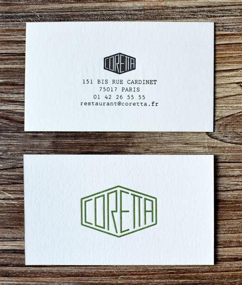 Carte De Visite Restaurant Design by Restaurant Coretta P 233 Pite Bistronomique Tendance Food