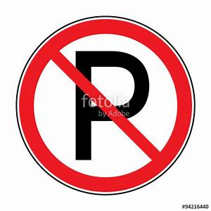 Quotno parking sign road icon with letter p in a red crossed for Signs you can change letters