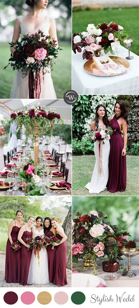 wedding colores wedding trends 10 fantastic burgundy color combos for