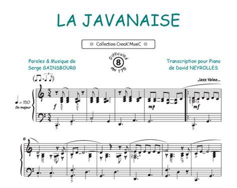 Partitions : Serge Gainsbourg: La Javanaise (Collection
