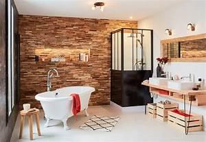 Parement Salle De Bain : salle de bains avec baignoire ilot et plaquettes de ~ Melissatoandfro.com Idées de Décoration