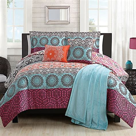 boho comforter set boho chic comforter set in orange bed bath beyond