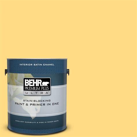 behr premium plus ultra 1 gal p290 1 soft buttercup semi behr premium plus ultra 1 gal p290 4 spirited yellow