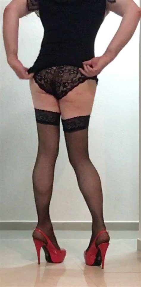Red Heels And Stockings Photo Ashemaletube Com