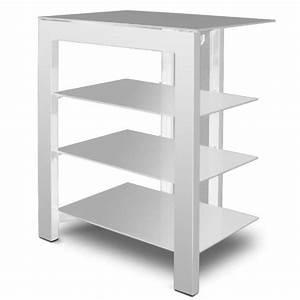 Meuble Hifi But : de conti arca xl blanc meuble hifi 4 tag res achat vente meuble tv de conti arca xl blanc ~ Teatrodelosmanantiales.com Idées de Décoration
