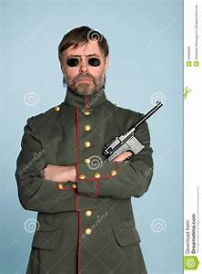 Man Military Officer With A Gun Stock Photos - Image: 25020223