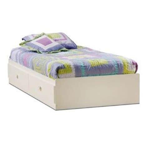 white twin size mates platform bed   drawers
