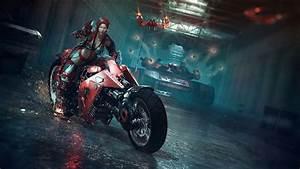 Biker chick wallpaper - 841243