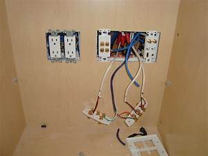 Home Theater Wall Plate Install Inside Cabinet In San Jose