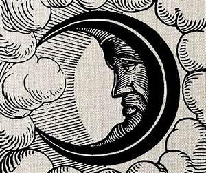 Vintage moon illustration | Celestial | Pinterest