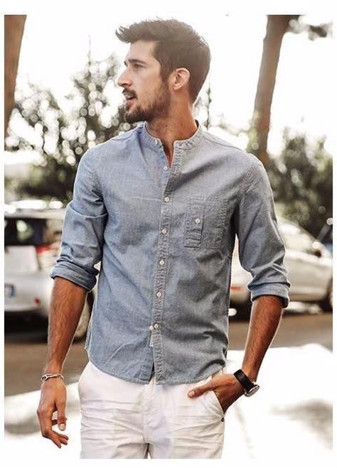 summer long sleeve mens cotton shirt shirt