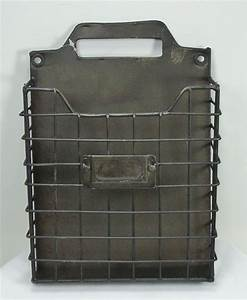 rustic style metal wire basket wall pocket organizer With wire letter holder wall