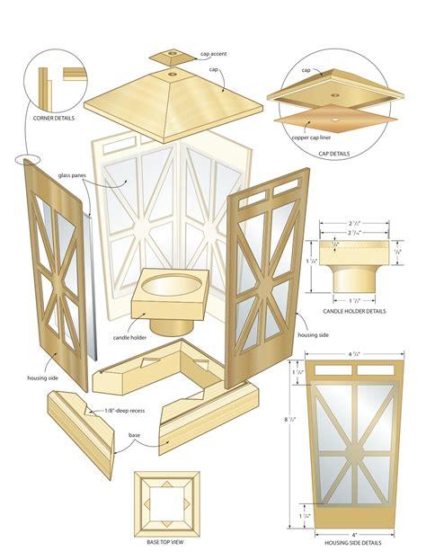 candle lantern woodworking plans woodshop plans