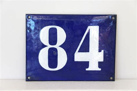 French Enamel House Numbers