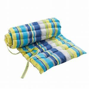 Coussin De Bain De Soleil : coussin bain de soleil marina bleu coussin et matelas pour mobilier eminza ~ Teatrodelosmanantiales.com Idées de Décoration