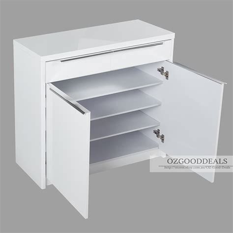 matching kitchen cabinets high gloss white wooden shoe cabinet rack 880mm 20 pairs 4040