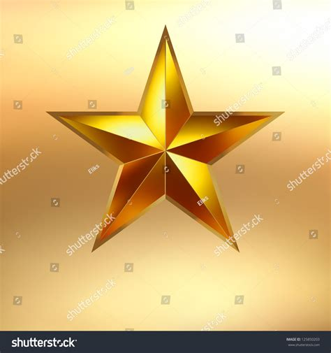 Illustration Of A Gold Star On Gold Background Eps 8