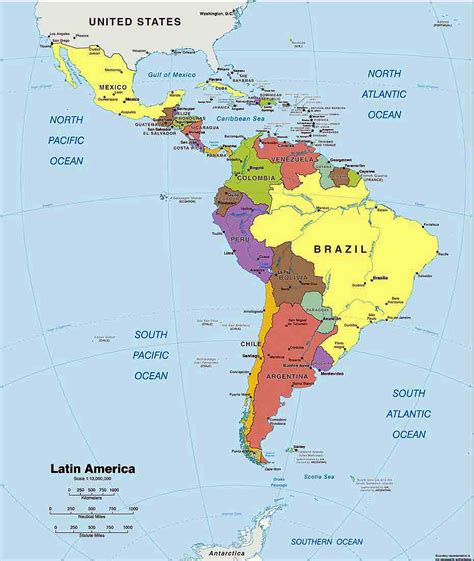 latin america map region city map  world region city