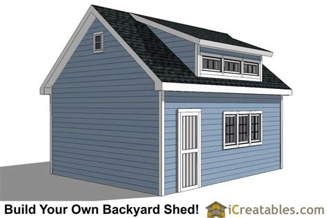 shed plans 16x20 16x20 shed plans with icreatables