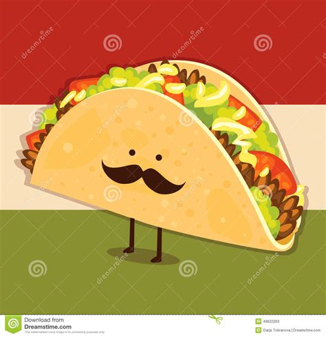 Cute Taco Cartoon Characters