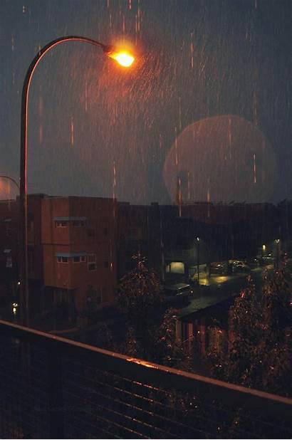 Rain Rainy Aesthetic Sky Wallpapers Weather Cozy