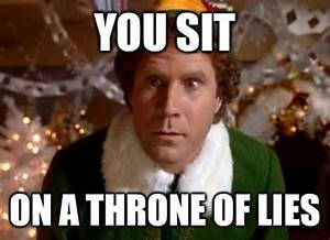 You sit on a throne of lies | Picture Quotes