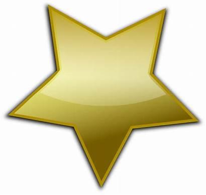 Gold Star Clip Clipart Vector Clker