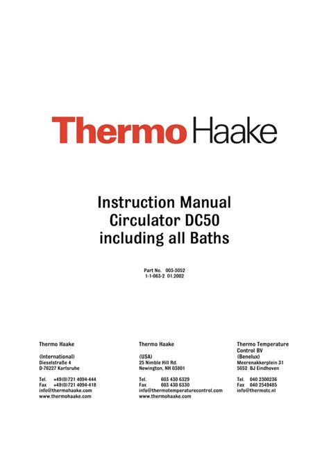 thermohaakedc circulator bathsmanual manualzz