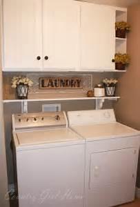 Country girl home laundry room shelf for Laundry room shelf over washer dryer