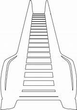 Escalator Roltrap Kleurplaten Silhouetten Outline Silhouette sketch template
