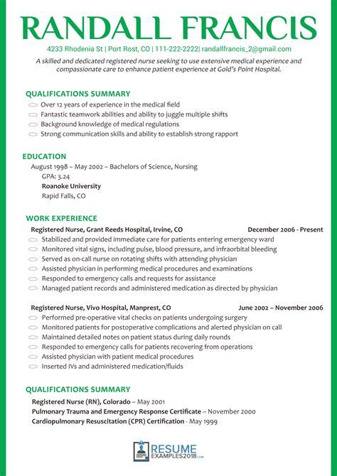 Nursing Resume by Nursing Resume Exles 2018 Bijeefopijburg Nl