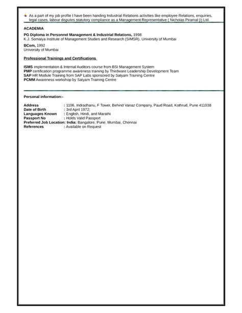 functional hr representative resume template page 3