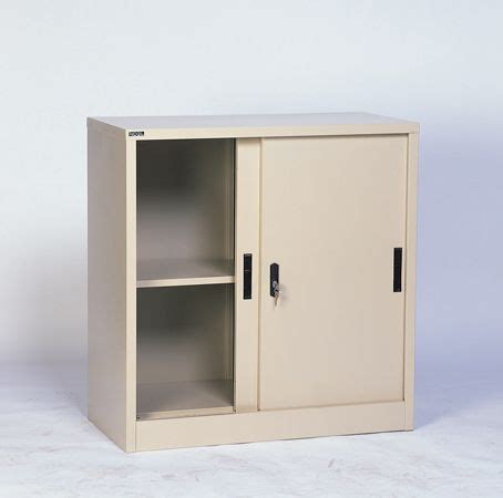 Sliding Cupboard Shelves by Rexel Low Height Cupboard Sliding Steel With 1 Adjustable