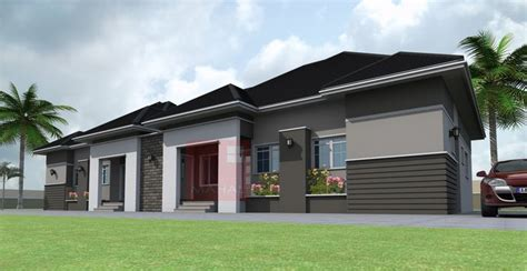 bedroom semi detached bungalow residential architecture architecture