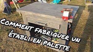 Fabriquer Un établi : comment fabriquer un tabli servante en bois de palettes youtube ~ Melissatoandfro.com Idées de Décoration