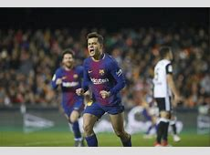Copa del Rey Coutinho Barca debut goal secures final